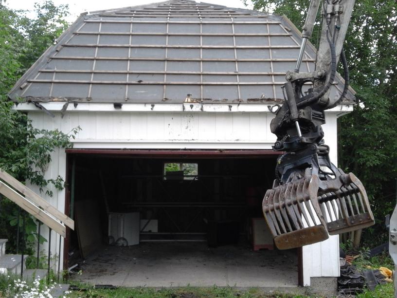 #6 Riving av garasje